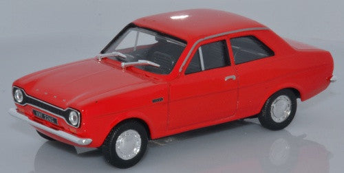 CARARAMA Ford Escort Mk1-Red - 1:43 Scale - OxfordDiecast