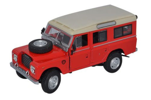 CARARAMA Red Land Rover Series III - 1:43 Scale - OxfordDiecast