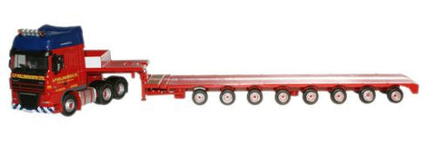Oxford Diecast A P Hollingworth DAF Low Loader - 1:76 Scale