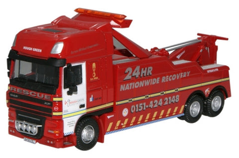 Oxford Diecast Hough Green Recovery DAF - 1:76 Scale