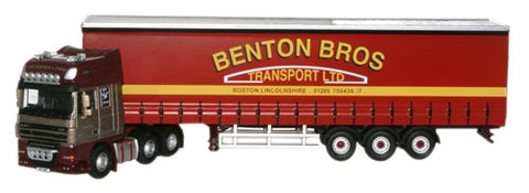 Oxford Diecast Bentons DAF 105 (SS) Curtainside - 1:76 Scale