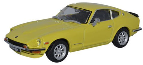 Oxford Diecast Datsun 240Z Yellow 112 - 1:43 Scale