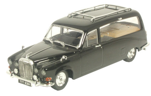 Oxford Diecast Daimler DS420 Black Hearse - 1:43 Scale