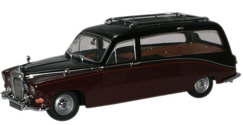Oxford Diecast Black/Claret Daimler Hearse - 1:43 Scale