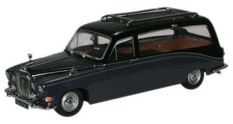 Oxford Diecast Daimler Hearse Black/Carlton Grey - 1:43 Scale