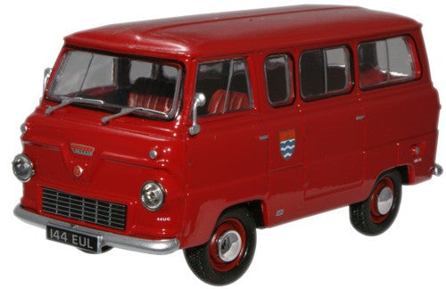 Oxford Diecast London Fire Brigade Ford 400E Minibus - 1:43 Scale