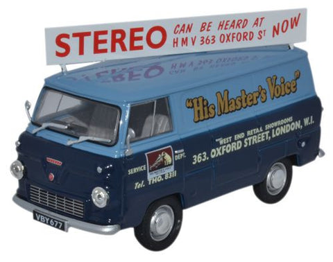 Oxford Diecast Ford 400E Van His Masters Voice - 1:43 Scale