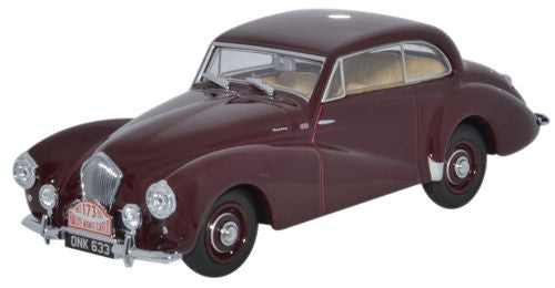 Oxford Diecast Healey Tickford Maroon Monte Carlo 1953 - 1:43 Scale