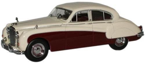 Oxford Diecast Cream/Imperial Maroon Jaguar MkIX - 1:43 Scale