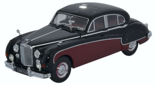 Oxford Diecast Jaguar MkIX Black/Imperial Maroon - 1:43 Scale