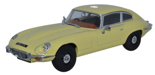 Oxford Diecast Jaguar V12 E Type Coupe Primrose Yellow - 1:43 Scale