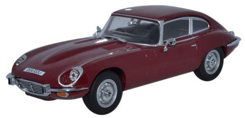 Oxford Diecast Jaguar V12 E Type Coupe Regency Red - 1:43 Scale