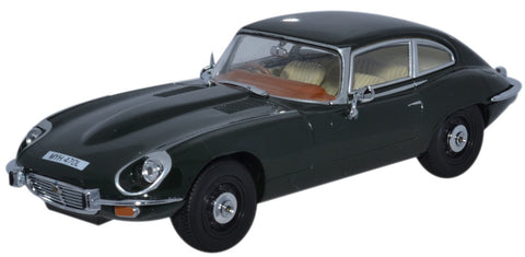 Oxford Diecast Jaguar V12 E Type Coupe British Racing Green - 1:43 Scale