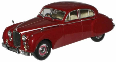 Oxford Diecast Claret Metallic (Queen Mother) Jaguar MkVIIM - 1:43 Sca