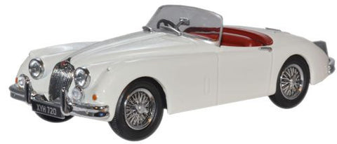 Oxford Diecast Old English White Jaguar XK150 Roadster - 1:43 Scale
