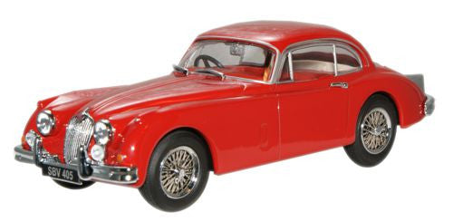 Oxford Diecast Carmen Red Jaguar XK150 FHC - 1:43 Scale