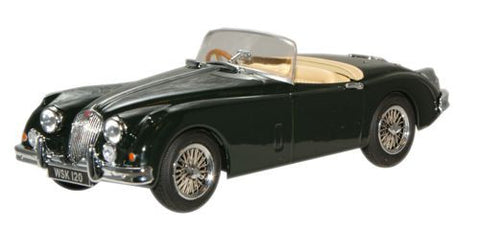 Oxford Diecast British Racing Green Jaguar XK150 Roadster - 1:43 Scale