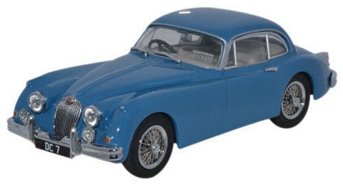 Oxford Diecast Jaguar XK150 Coupe Bluebird Blue  - D Campbell - 1:43 S