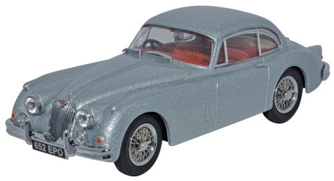 Oxford Diecast Jaguar XK150 Fixed Head Coupe Mist Grey