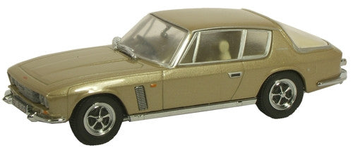 Oxford Diecast Fawn Metallic Jensen Interceptor - 1:43 Scale