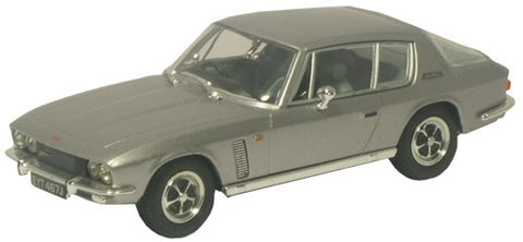 Oxford Diecast Silver Grey Jensen Interceptor MkII - 1:43 Scale