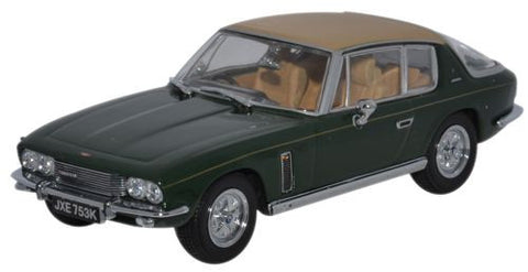 Oxford Diecast Jensen Interceptor MkIII Oakland Green/Tan - 1:43 Scale