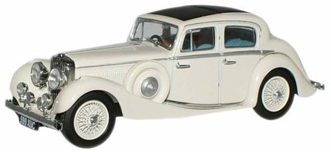 Oxford Diecast Cream  SS Jaguar  2.5 Saloon - 1:43 Scale