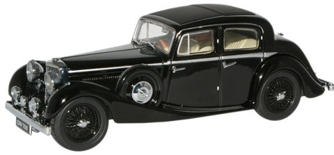 Oxford Diecast Black SS Jaguar 2.5 Saloon - 1:43 Scale