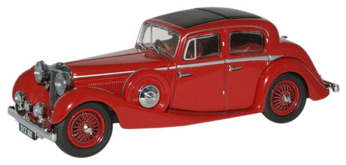Oxford Diecast Maroon Jaguar SS 2.5 Saloon - 1:43 Scale
