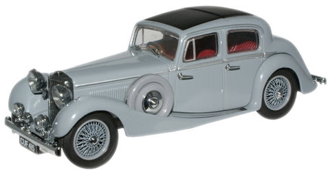 Oxford Diecast Lavender Grey SS Jaguar 2.5 Saloon - 1:43 Scale