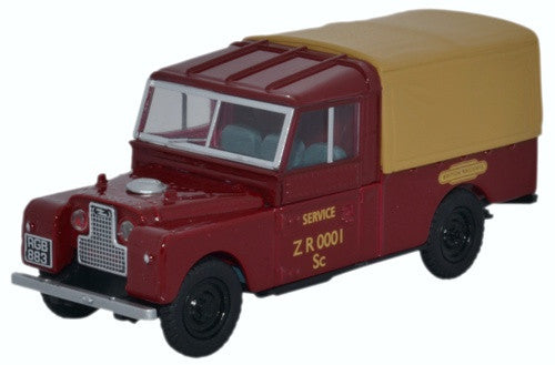 Oxford Diecast Land Rover Series 1 109inch Canvas British Railways