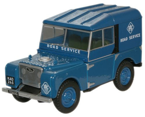 Oxford Diecast RAC Land Rover Series 1 80 inch Hard Top - 1:43 Scale