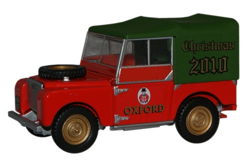 Oxford Diecast Christmas 2010 Land Rover - 1:43 Scale