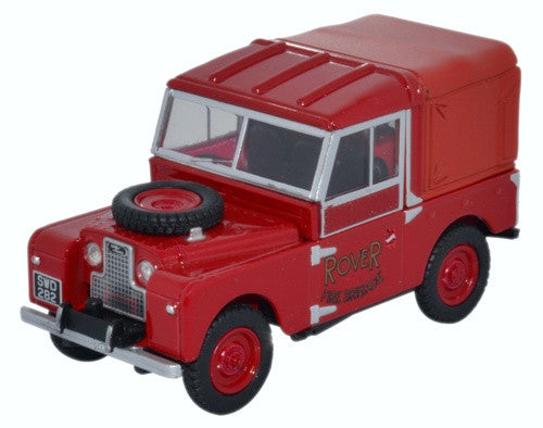 "Oxford Diecast Land Rover Series 1 88"" Hard Top Rover Fire Brigade"