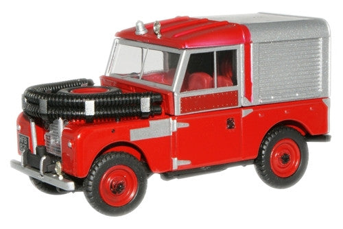 "Oxford Diecast Red Land Rover 88"" Fire Appliance - 1:43 Scale"
