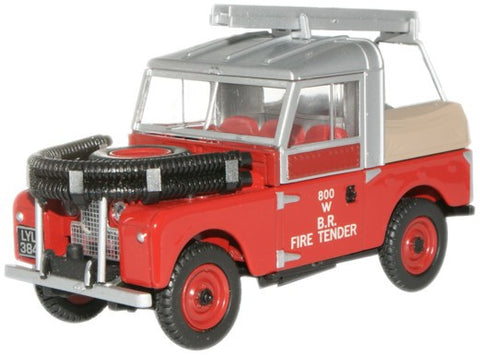 "Oxford Diecast Land Rover 88"" Fire British Rail - 1:43 Scale"