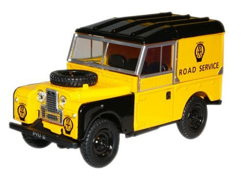"Oxford Diecast AA Land Rover 88"" Closed - 1:43 Scale"