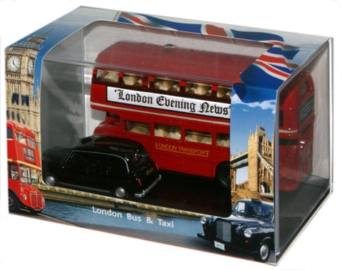 Oxford Diecast London Bus & Taxi Gift - 1:76 Scale