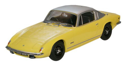 Oxford Diecast Lotus Elan Plus2 Yellow/Silver - 1:43 Scale