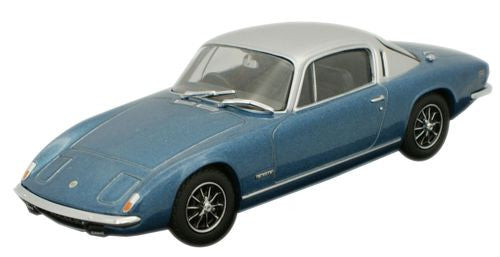 Oxford Diecast Lotus Elan Plus 2 Lagon Blue _ Silver - 1:43 Scale
