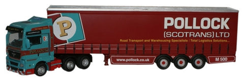 Oxford Diecast Pollock MAN TGX Curtainside - 1:76 Scale