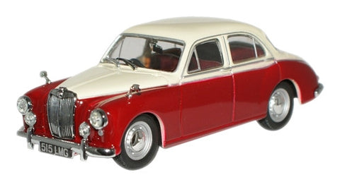 Oxford Diecast Ivory/Autumn Red MGZB Varitone - 1:43 Scale