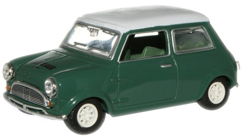 Oxford Diecast Almond Green/White Mini Car - 1:43 Scale