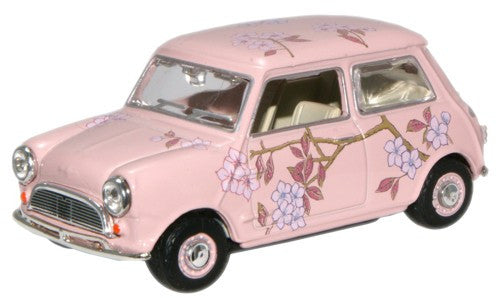 Oxford Diecast Pink Floral (M & S Twiggy advert) Mini Car - 1:43 Scale