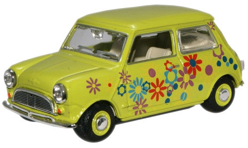 Oxford Diecast Lime Floral Mini Car - 1:43 Scale