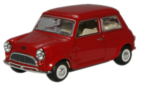 Oxford Diecast Tartan Red 1959 Mini Car - 1:43 Scale