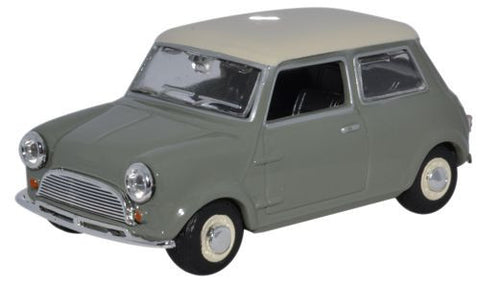 Oxford Diecast Mini Car Tweed Grey/OEW - 1:43 Scale