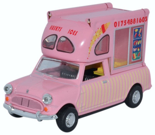 Oxford Diecast Mini Batman Ice Cream Van Huskys Ices - 1:43 Scale