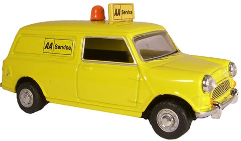 Oxford Diecast Mini Van AA Van New logo - 1:43 Scale