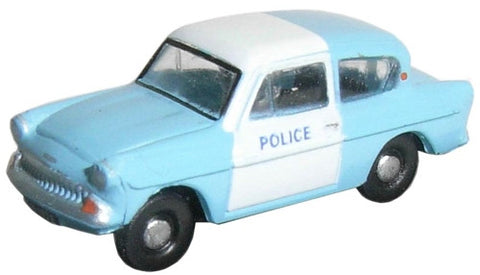 Oxford Diecast Police Panda Ford Anglia - 1:148 Scale